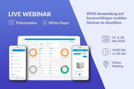 COGLAS Webinar: WMS-Anwendung auf browserfähigen mobilen Devices im shopfloor