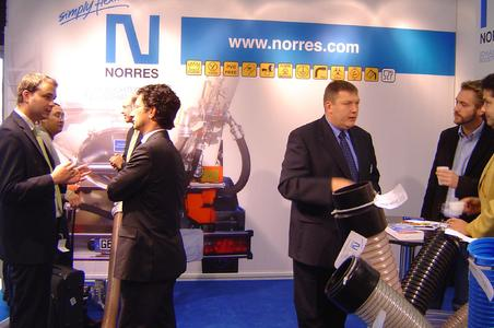National and international trade visitors were admiring NORRES' broad spectrum of plastic products and were very interested in the product innovations as the safety clamp system.