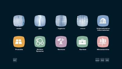 Auszug Interaktive Touchscreen-Präsentation, Fma. Bürkert