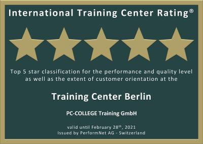 International Training Center Rating® - PC-COLLEGE erhält Auszeichnung