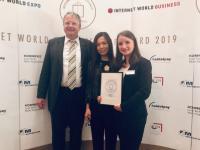 """Internet World Business Shop Award """"Bester B2B Shop"""": Dank funktionsstarkem Webshop, der auf allen Endgeräten gut funktioniert, gewann Rajapack den 3. Platz in der Kategorie """"Bester B2B Shop"""""""