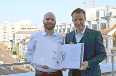 Christian Strehl (links) ist CFO und Beat Rohrbach COO der GARAIO REM AG.