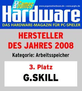 G.Skill gewinnt Award bei PC Games Hardware Leserwahl