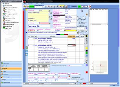 Screenshot Warenwirtschaft BASIC