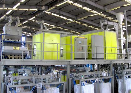 hamos WRS recycling line for PVC windows