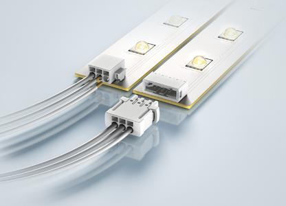HARTING will show the M12 Power L-coded (left) and har-flexicon® for LED applications (colour white) at the Hannover Messe trade show.