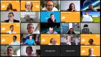 Screenshot der Begrüßung durch Isabelle von Künßberg in Zoom acmeo Partnerkonferenz