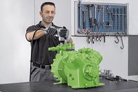 When copied spare parts are used, the warranty becomes void for the entire product. The BITZER Green Point offices are expert contact representatives when it comes to issues of compressor repair and provide customers worldwide with professional support in service, maintenance and training. As such, BITZER can optimally monitor the entire life cycle of its compressors and pressure vessels all over the world.