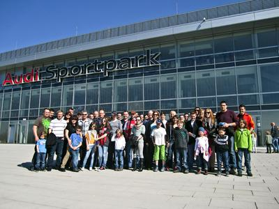 BFFT employees at a FC Ingolstadt home game
