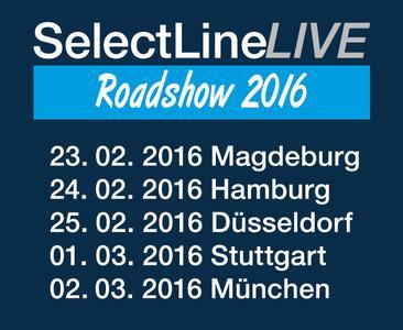 Die SelectLine Software GmbH auf großer Roadshow in Magdeburg, Hamburg, Düsseldorf, Stuttgart und München