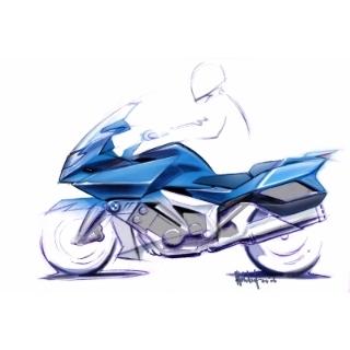 BMW K 1600 GT / BMW K 1600 GTL, design sketch (07/2010)
