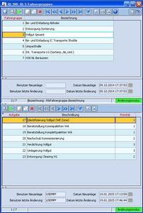inconso RLS Aufgabendefinition für Fahrergruppen