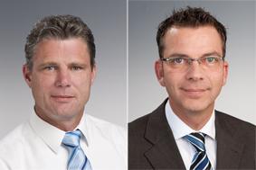 Von links nach rechts: Keven Westphal (Key-Account Brandschutz), Carsten Buchhop (Bezirksleiter Nord-West)