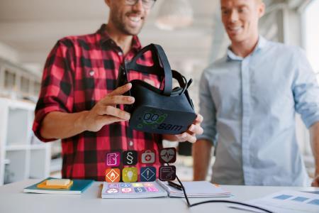 secova ist mit seiner EHS-Software sam® auch beim Thema VR Vorreiter - jetzt live zu erleben auf der A+A 2017 in Düsseldorf