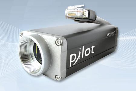 "Die Basler pilot piA1000-60g GigE Kamera ist mit dem Kodak Dual-Tap 2/3"" CCD-Sensor KAI-01020 ausgestattet"