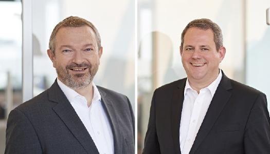 Stefan Keller (links) und Joachim Astel, Vorstände des IT-Dienstleisters und Rechenzentrumsbetreibers noris network