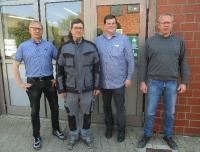 v.l. Oliver Kipp, Mirko Blume, Christopher Schulte, Ingo Kipp