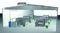 Schema: zentrale Wasserkühlung Laserzentrum