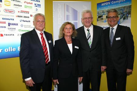 Ministerpräsident Kretschmann bei MPDV auf der Hannover Messe