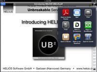 """Die """"iPad Document Hub""""-App eignet sich auch als Transportmittel für Daten, die mit anderen App bearbeitet werden. Heruntergeladenen Dateien können an anderen Apps weitergereicht werden, modifizierte Dateien über den iPad Document Hub auf den Unternehmensserver hochgeladen werden."""