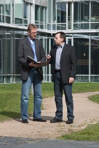 Udo Portz (links) und Heinz Milz, Geschäftsführer der Gebäudedienste Portz GmbH