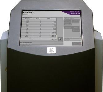 Die Software ARCEO von ARCA sorgt dabei stetig für die Kontrolle und Verwaltung der Bargeldprozesse im Markt.