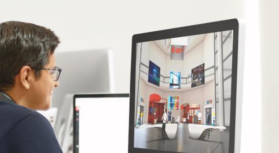 Virtuelle Lobby der EID 2020 auf der Messeplattform EXPO-X