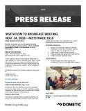 [PDF] Press release: Invitation to breakfast briefing Nov. 14, 2018 - Metstrade 2018