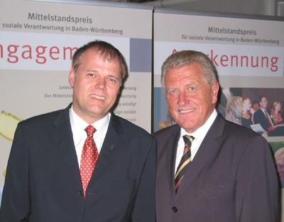 Gerhard R. Daiger, Wirtschaftsminister Ernst Pfister