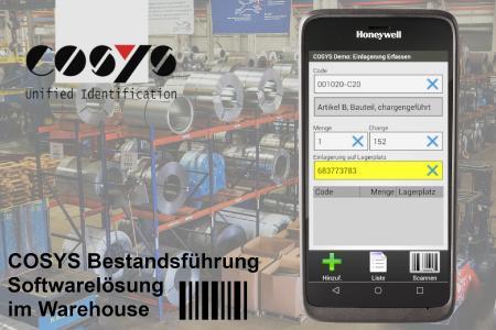 COSYS Softwarelösung (Stand Alone) für Bestandsführung