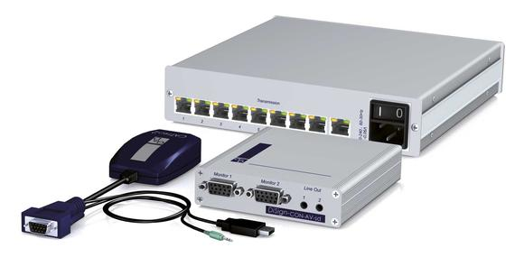 DiSign system: 1AV8 splitter, computer module and display module