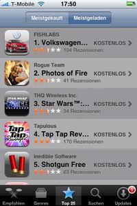 Screenshot AppStore Platz 1