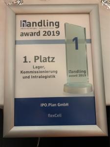 Urkunde Handling Award flexible Zellenfertigung