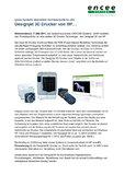 [PDF] Pressemitteilung: Designjet 3D Drucker von HP...