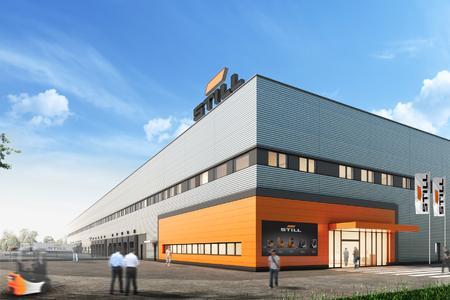 So soll das neue Logistikzentrum der STILL GmbH in Hamburg nach Fertigstellung aussehen. Foto: STILL GmbH