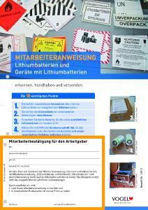 Lithiumbatterien und Geräte mit Lithiumbatterien