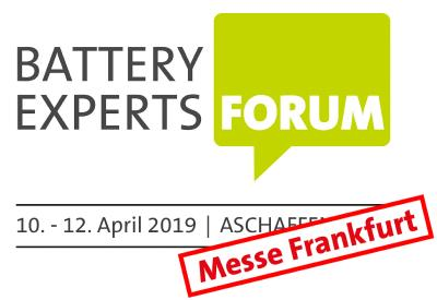 Battery Experts Forum moves to Frankfurt am Main