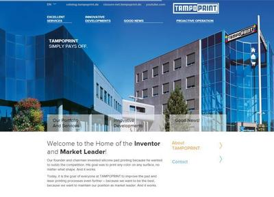 With the relaunch of the corporate website TAMPOPRINT focuses on its core competency: enabling