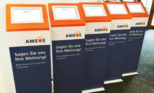 Feedback abgeben über Feedback-Terminals im CD der AMEOS Gruppe