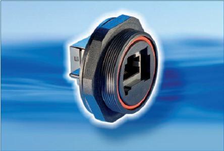 Wasserdichter IP68 Ethernet Steckverbinder mit neuen Montageoptionen