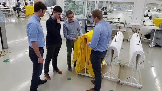 Bei der Otto Markert & Sohn GmbH wurden weiterführende Ideen für die Themen Retrofit und das Auslesen von Daten aus Maschinen entwickelt. Foto: STFI