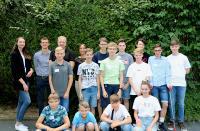 Gruppenfoto beim CONET-Berufsfelderkundungstag in Hennef