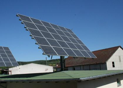 The sonnen_system_3_40 mounted on a building.