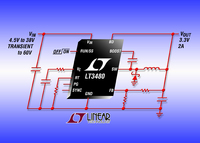 38V, 2A(IOUT), 2.4MHz Step-Down DC/DC Converter Offers  Quiescent Current of Only 70uA and 60V Transient Protection