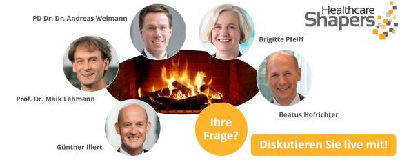 Virtuelles Kamingespräch: Gesundheitswirtschaft voranbringen - Die Expertenrunde