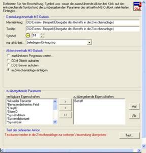Integration externe Softwarelösungen in Outlook©/Exchange©-Organisationen
