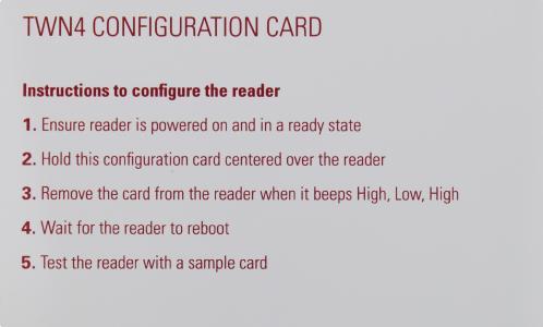 Funkidentifikationslösung TWN4 Configuration Card von Elatec RFID Systems / Bildquelle: Elatec