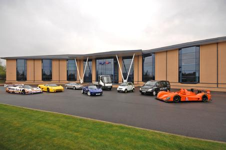 Stammsitz der britischen Ingenieurgesellschaft Zytek Automotive in Fradley, Großbritannien