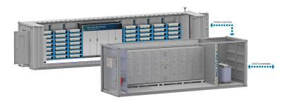 FREQCON Umrichtersystem mit Mercedes-Benz Energy Batteriespeicher. Sicherstes am Markt verfügbares System. Mercedes-Benz Energy Energiespeicher mit FREQCON Umrichter als Komplettlösung.