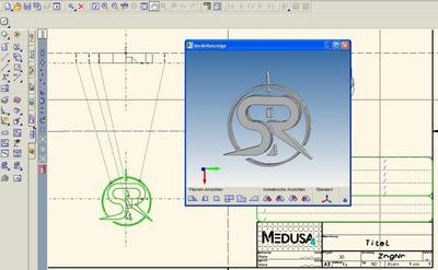 A MEDUSA4 Personal rock band logo design, licensed for commercial use via eservices.cad-schroer.com